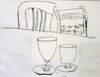 Rummers for Barolo Mascarello,. Monoprint. SOLD.