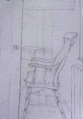Windsor chair, Abercych. Pencil. 30cm x 21cm