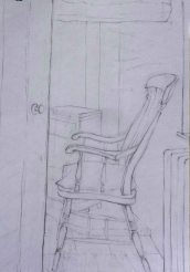 Windsor chair, Abercych. Pencil. 30cm x 21cm