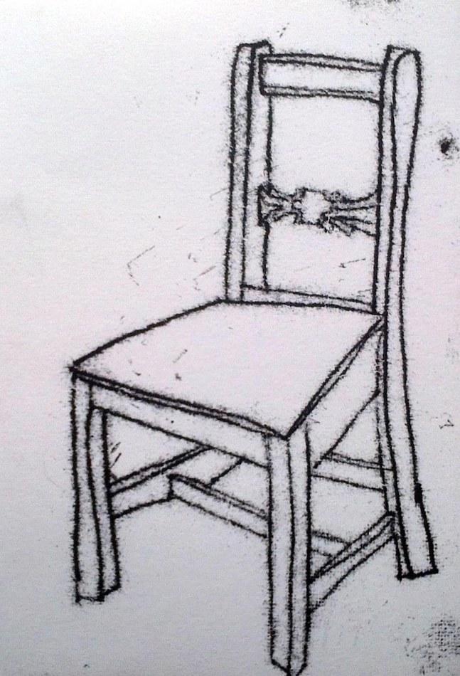 Oak chair. 15cm x 21cm. £160.