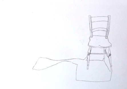 Chair with shadow. Ink. 42cm x 60cm. £350.