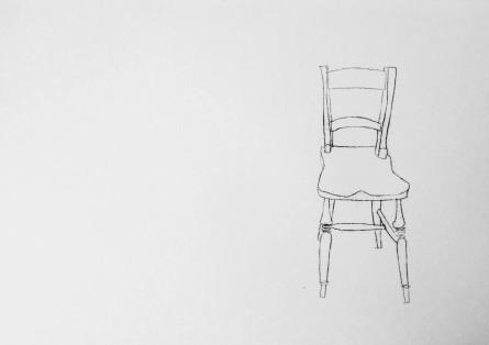 Single chair. Ink. 42cm x 60cm. £350.