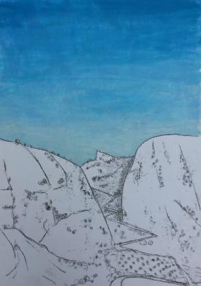 afternoon-blue-sky-over-spanish-hills-montejaque-landscape-Spanish-landscape-