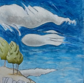 montejaque_trees-and-sky-mirador-montejaque-spain-spanish-trees-sky_tree-paintings_mixed-media-painting-sera-james-irvine.