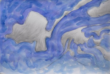 Passing Clouds. Pencil and watercolour. £495