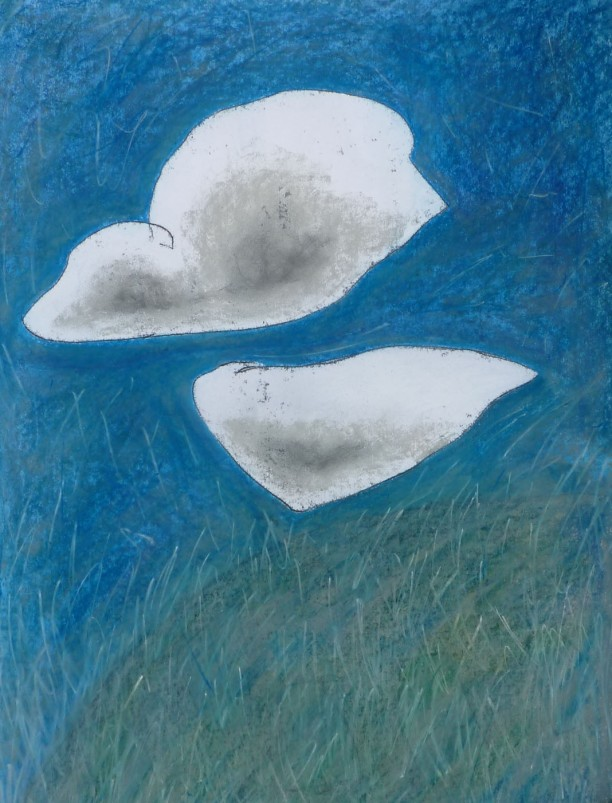 Clouds passing over a hill. Mixed media. £656